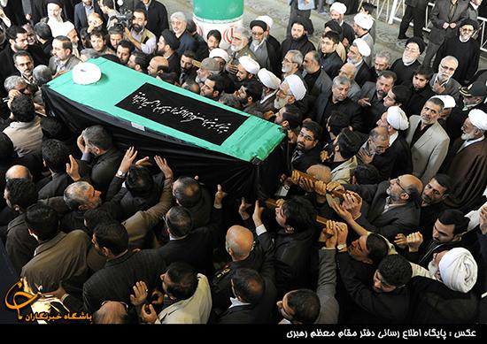 پایان مراسم تشییع و تدفین آیتالله مهدوی کنی