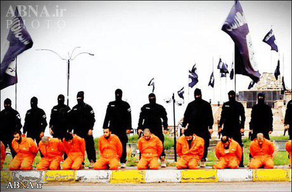 اعدام 13 سنی مذهب توسط داعش در خیابان+عکس ها