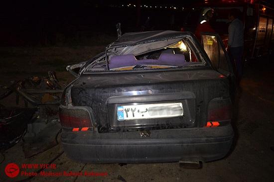 تصادف مرگبار جاده مشهد به سرخس + تصاویر