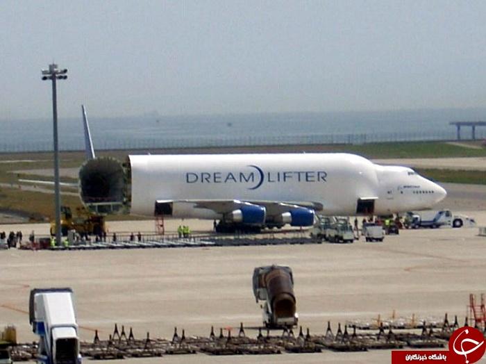 هواپیمای غول پیکر با ظاهر بدقیافه + عکس  / در حال کار