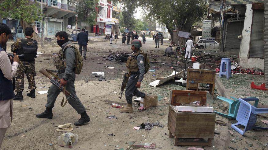 وقوع چند انفجار در شهر جلال آباد افغانستان+ عکس