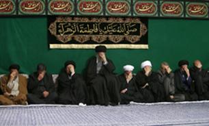 مراسم عزاداری حضرت فاطمهزهرا (س) و ترحیم همشیره مکرمه رهبر معظم انقلاب برگزار شد