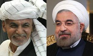 استقبال رسمی دکتر روحانی از رییس جمهوری افغانستان