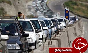 ممنوعیت تردد وسایل نقلیه سنگین در محور هراز
