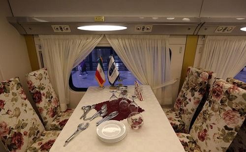 قطار 5 ستاره تهران - مشهد + تصاویر
