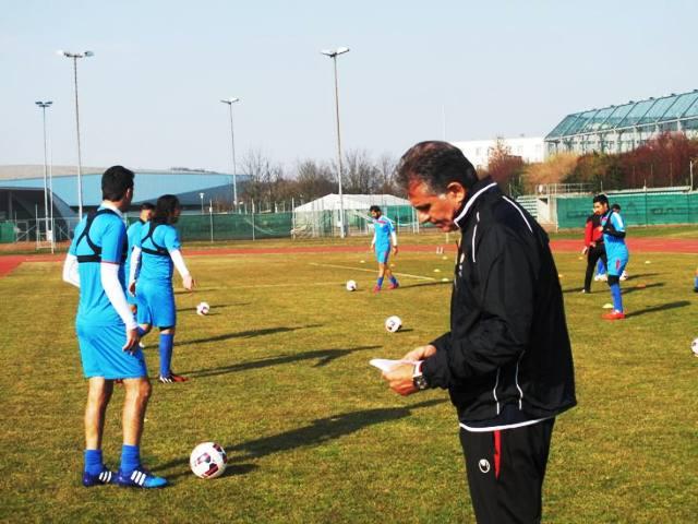 برگزاری تمرین تیم ملی فوتبال