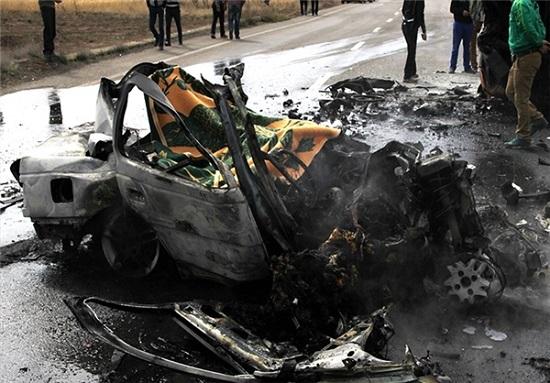 تصاویری دلخراش از حادثه جاده سلماس + 18