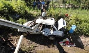 سقوط مرگبار پراید به داخل دره/ 2 زن در دم جان باختند