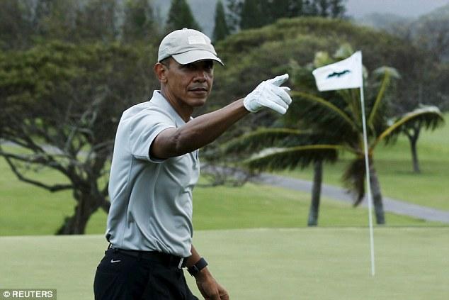 بازی گلف اوباما در هاوایی