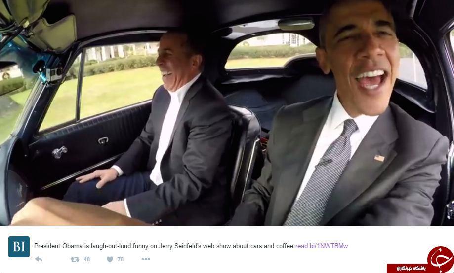 ذوق زدگی اوباما هنگام رانندگی + عکس