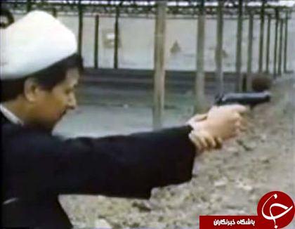 هاشمی رفسنجانی دست به اسلحه +عکس