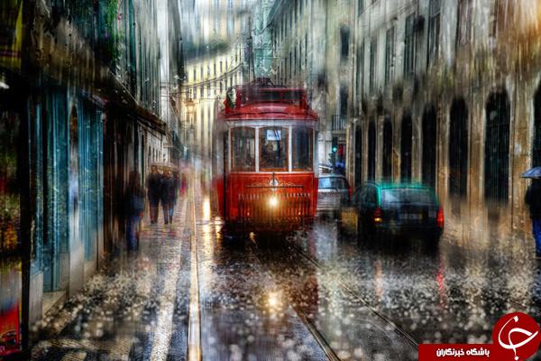 خیابان های سن پترزبورگ در یک روز بارانی +تصاویر