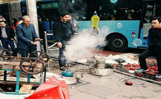 دانلود فیلم لحظه واژگونی گاری لبو فروش جنجالی تهران