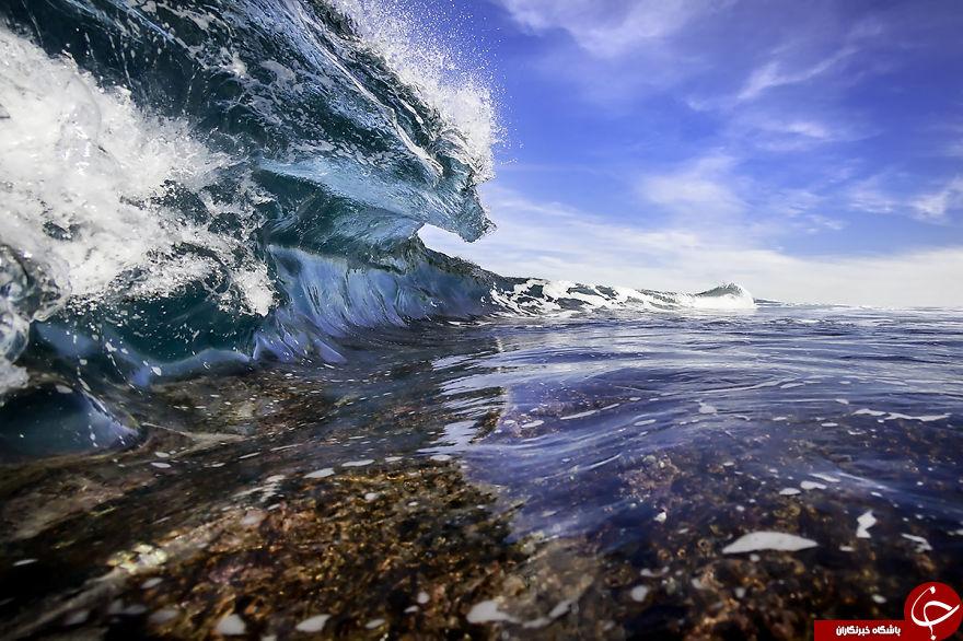 تصاویر حیرت آور از اواج دریا + تصاویر