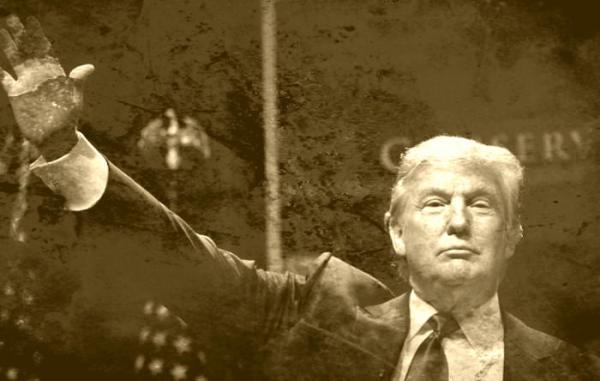 ترامپ چهره هیتلری خود را رو کرد+تصاویر