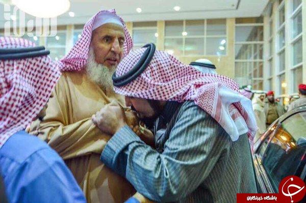 بوسه تقدیر شاهزاده بر دستان قصاب شیخ النمر+ عکس