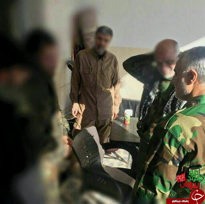 سردار سلیمانی در لباس رزم +عکس