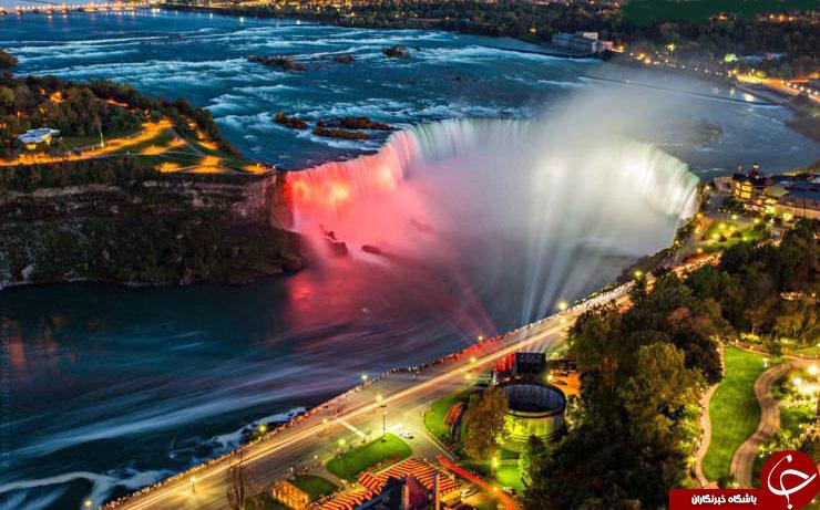 چشم اندازی زیبا از آبشار نیاگارا +عکس