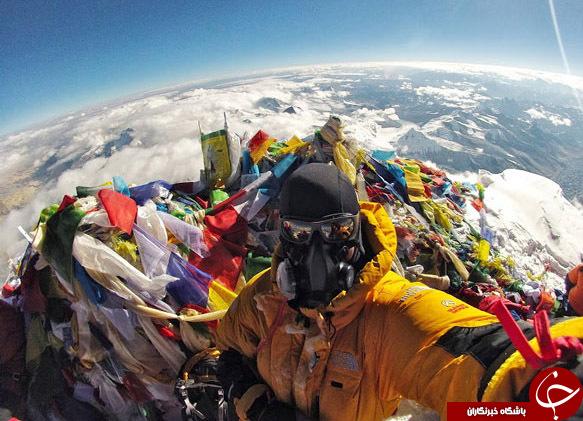 سلفی از قله اورست + عکس