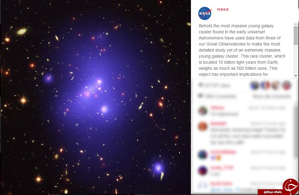 عظیم ترین خوشه کهکشانی + عکس