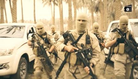 تمرین نظامی داعش در لبنان+ تصاویر