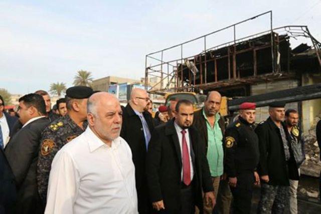 بازدید نخست وزیر عراق از محل انفجار خونین بغداد+ تصاویر