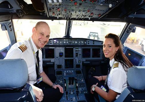 پدر و دختری خلبان که باهم همکارند + تصاویر