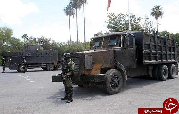 ماشین های زرهی قاچاقچیان مکزیکی+تصاویر