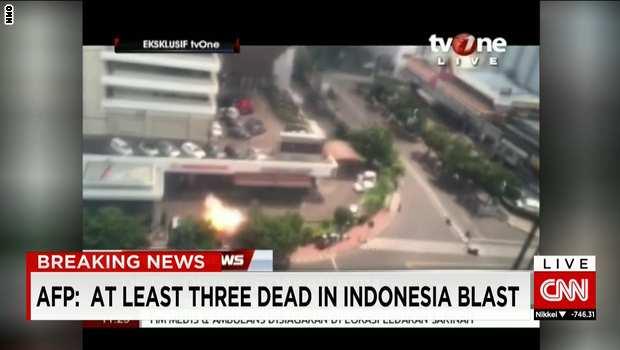 ده ها کشته و زخمی در انفجارهای پیدرپی پایتخت اندونزی/ داعش مظنون حملات