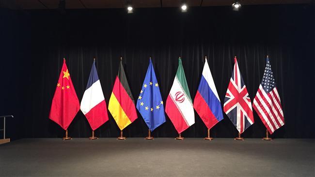 پرچمهای ایران و گروه 1+5 در مقر سازمان ملل متحد چیده شد