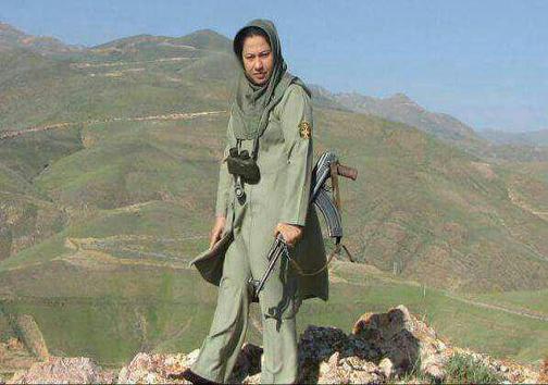 اولین زن محیطبان مسلح ایران (عکس)