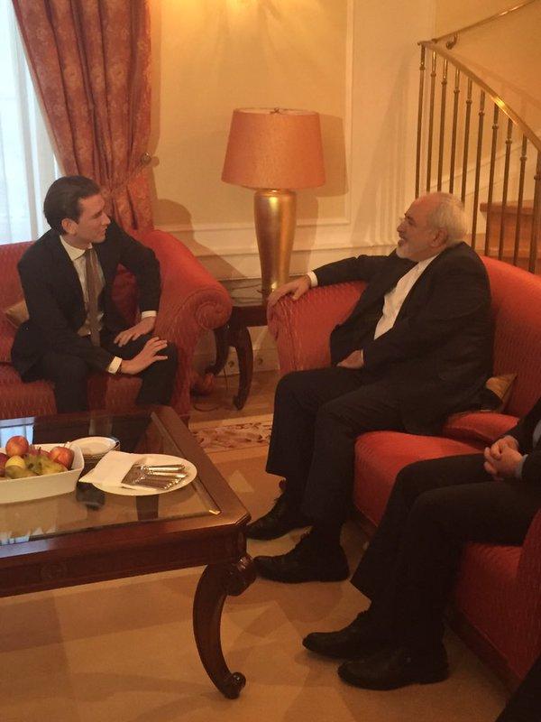 ظریف با وزیرخارجه اتریش دیدار کرد