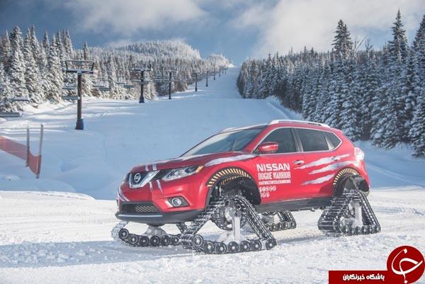 طراحی خودرویی با چرخ های تانک! +تصاویر