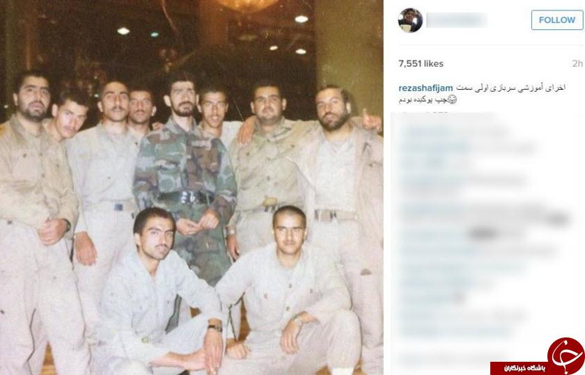 رضا شفیعی جم در خدمت سربازی زیر پرچم +عکس