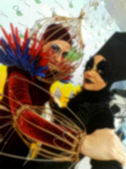 چهره زشت بالماسکه و هالووین در دانشگاه الزهرا! / باز هم یک غفلت فرهنگی مشهود+ تصاویر