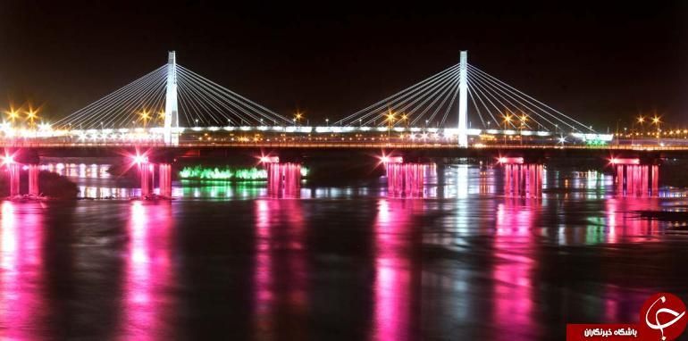 عکس زیبا از پل اهواز