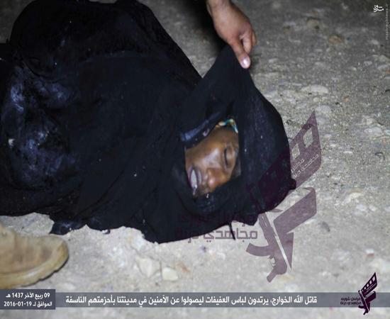 هلاکت دو انتحاری زنانه پوش داعش در لیبی+تصاویر