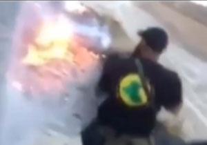 ابوعزرائیل داعشی ها را به رگبار گلوله بست + فیلم