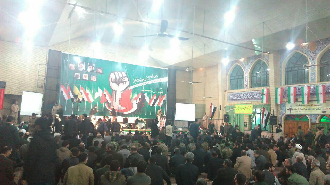 وداع با شهدای یمنی در آمل