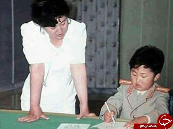 رهبر کره شمالی وقتی دانش آموز بود +عکس