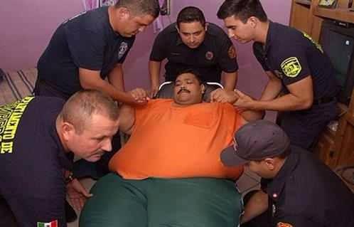 درگذشت چاق ترین مرد جهان+ تصاویر