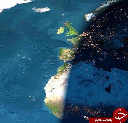 خط شب و روز از دید ناسا + عکس