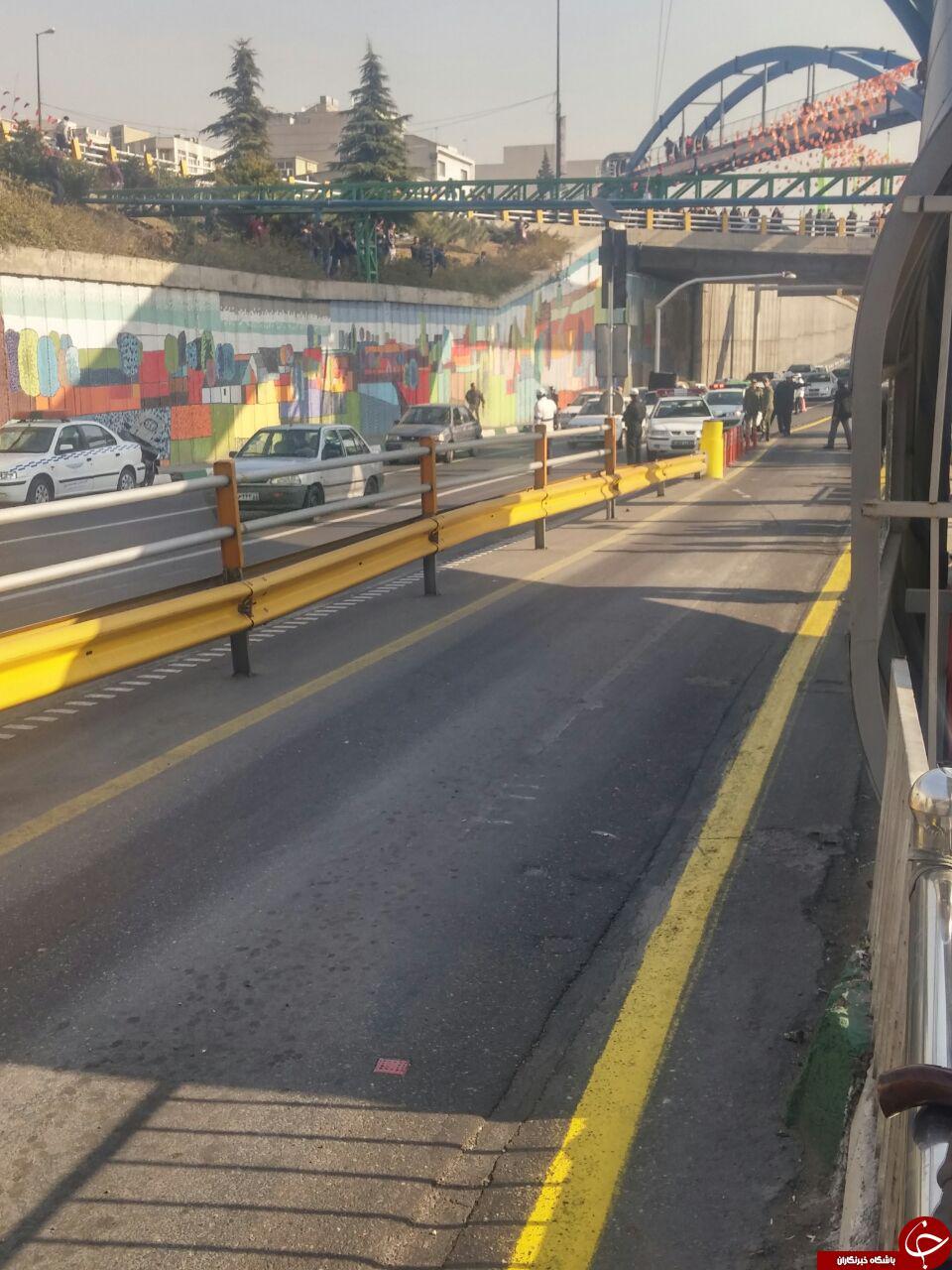خودکشی صبح امروز در میدان رسالت + تصاویر