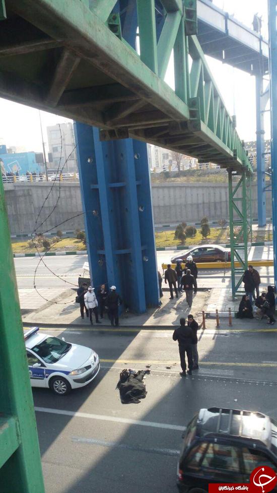 خودکشی دختر جوان در میدان رسالت+تصاویر