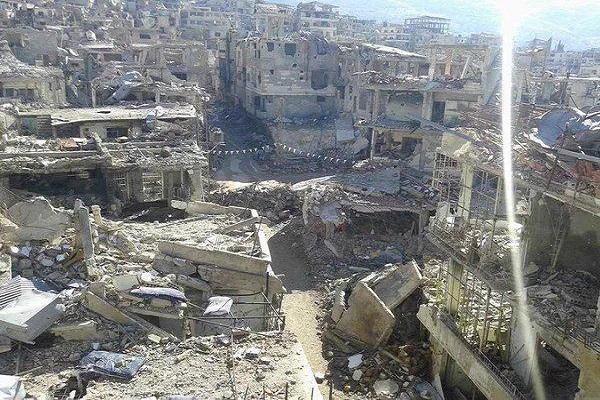 شهر زبدانی پس از خروج تروریست ها + تصاویر
