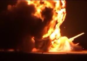 لحظه انفجار بمب افکن روسی + فیلم