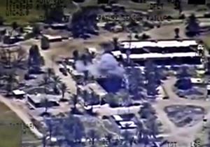 لحظه حمله هلیکوپترهای روسی به مواضع تروریستهای سوریه + فیلم
