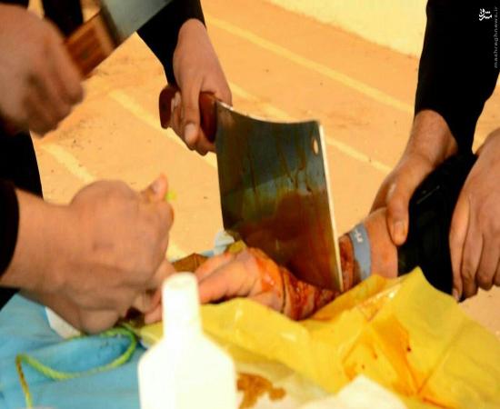 قطع دست پیرمرد لیبیایی توسط داعش+تصاویر(+18)