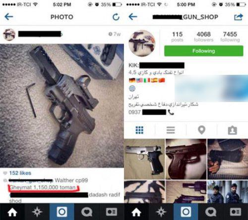 خرید و فروش اسلحه در اینستاگرام و فیسبوک