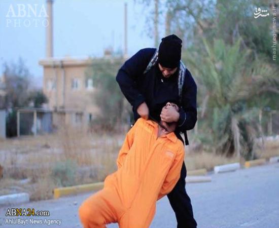 ذبح جوان عراقی به دست جلاد داعش + تصاویر(18+)